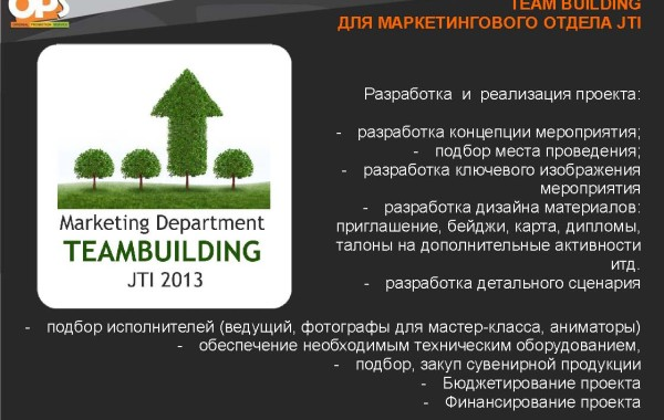 Marketing Department Teambuilding